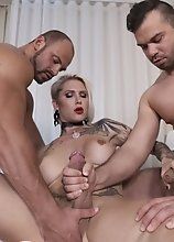 Danni Gets Ravaged by Two Huge Dicks Fighting Over Who Fucks Which Hole First