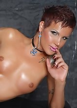 Beautiful shemale with a KILLER BODY and killer cock too