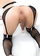 Asian, Big Tits, RedHead, Solo Masturbation, Shemale & Tranny, Fishnets, Ass, Cumshot, LadyBoy, Lingerie