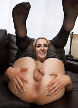 Watch gorgeous Kayleigh Coxx stroking her cock just for you!
