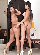 Watch these two hot transsexuals go at it with each other.The sexy Jessi Martinez & Sofia Obregon!