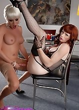 Hot Mia Isabella having fun with transsexual Tara